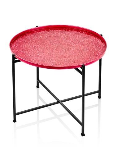 The Mia Duggal Sehpa 64 x 51 Cm - Kırmızı Kırmızı